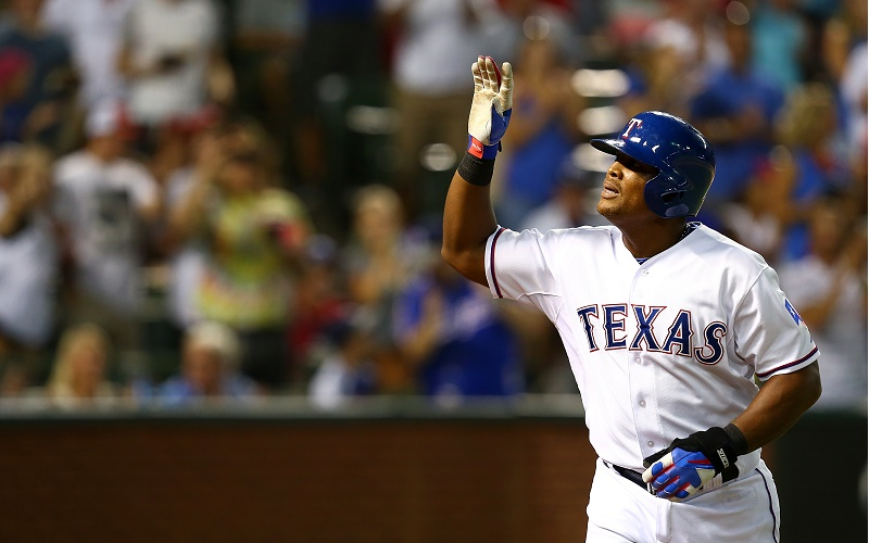 Adrian Beltre of the Texas Rangers