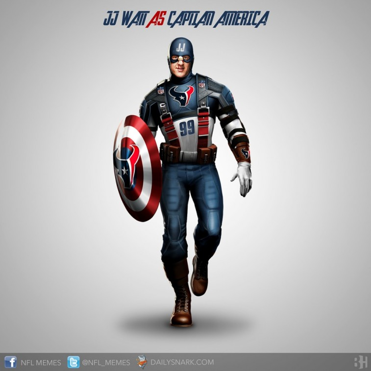 J.J. Watt as Captain America