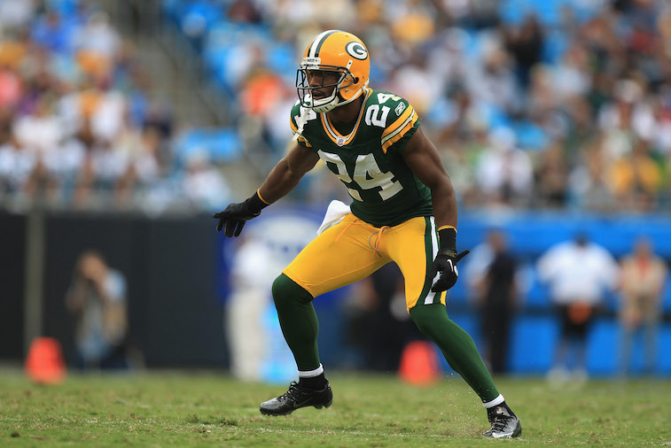 Jarrett Bush with Packers