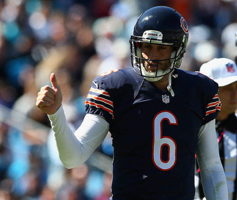 Jay Cutler would give a thumbs up to finding a new home next year | Streeter Lecka/Getty Images