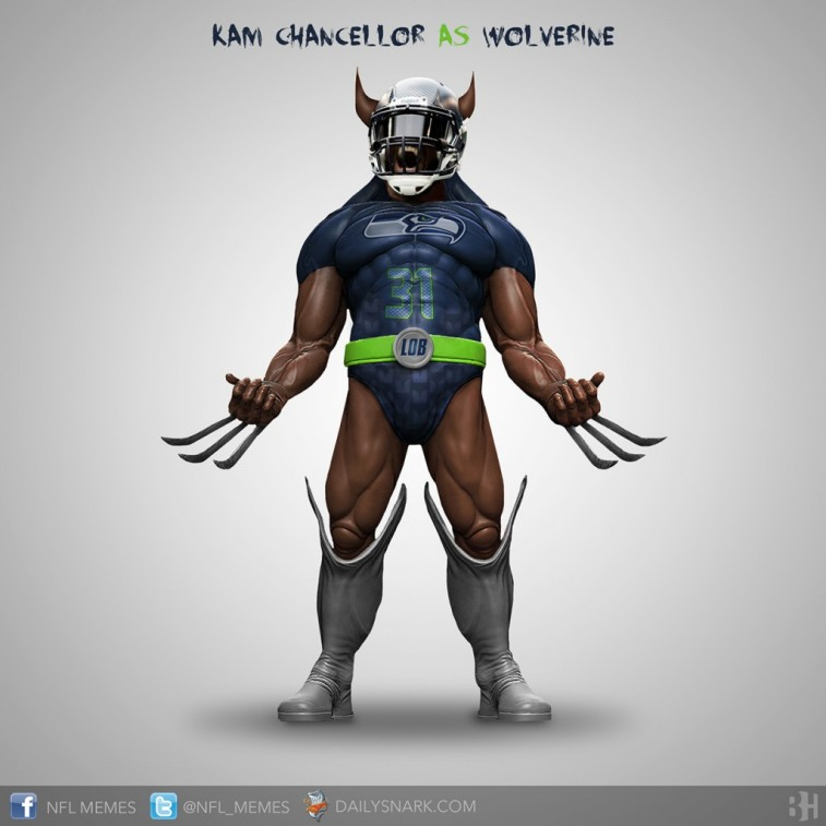 Kam Chancellor as Wolverine