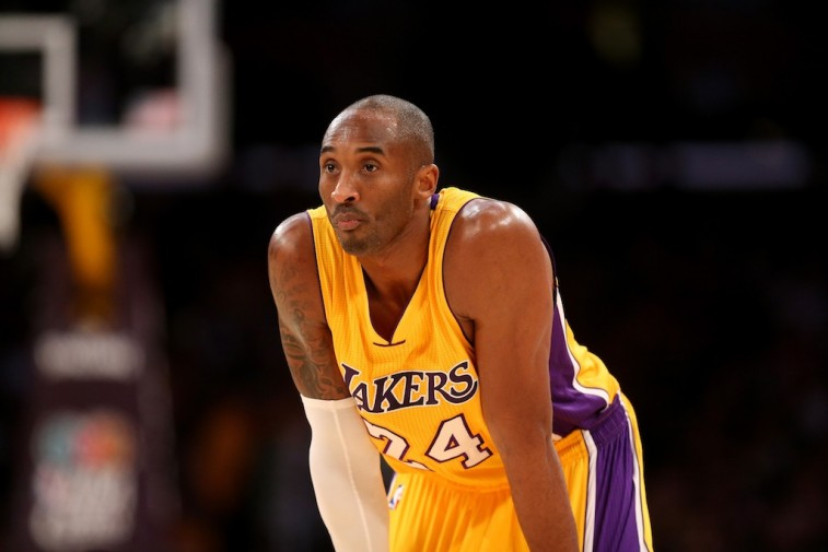 Kobe Bryant looks on during a game against the OKC Thunder