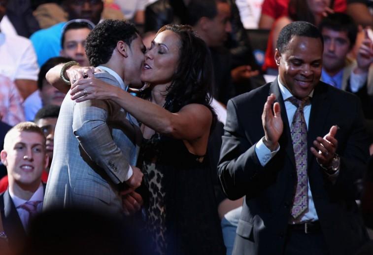 The Larkin family celebrates Shane's selection in the NBA draft