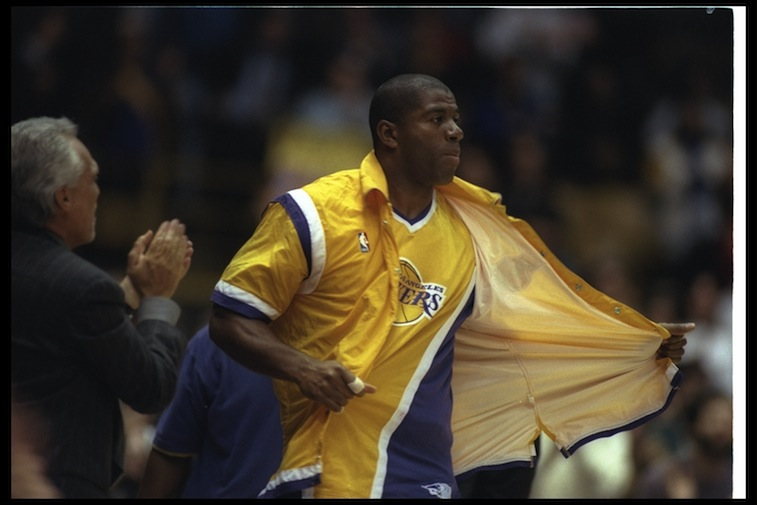 Magic Johnson returned in 1992 for the All-Star game.