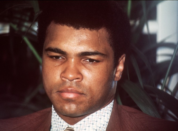 Muhammad Ali during a press conference