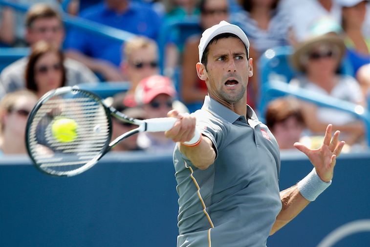 Novak Djokovic during the Western & Southern Open