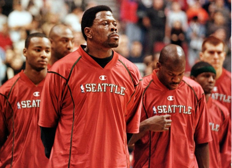 Patrick Ewing suits up for the Seattle SuperSonics