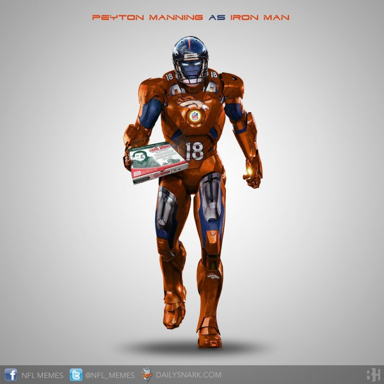 Peyton Manning as Iron Man