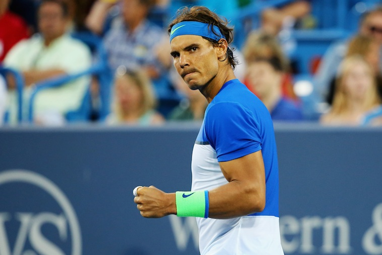 Rafael Nadal celebrates  during Day 6 of the Western & Southern Open
