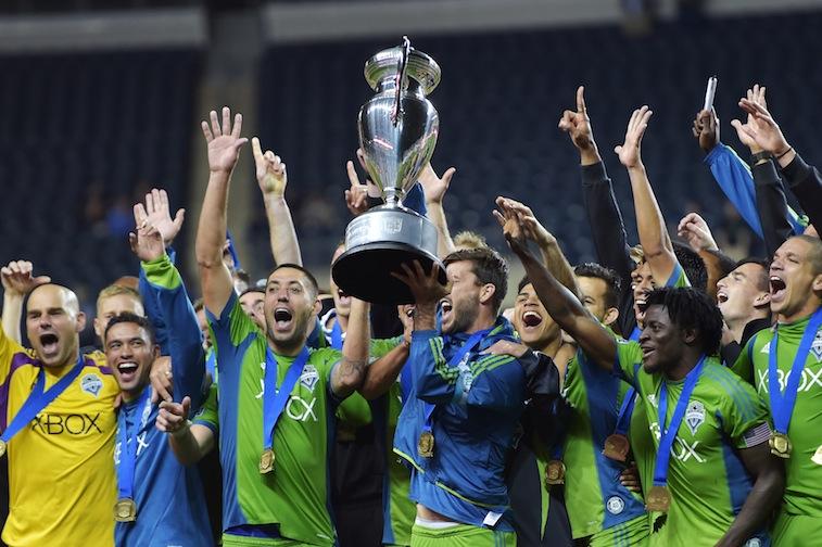 Seattle Sounders celebrate winning the 2014 U.S. Open Cup