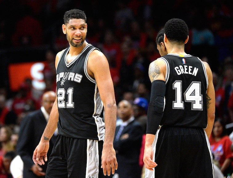 Tim Duncan and the Spurs during the 2015 postseason