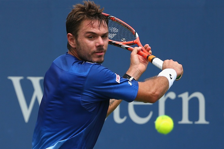 Stanislas Wawrinka during Day 5 of the Western & Southern Open at the Lidler Family T