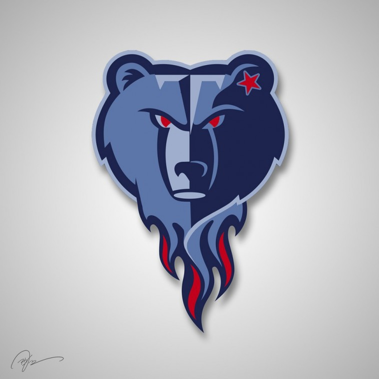 Tennessee Titans and Memphis Grizzlies mashup