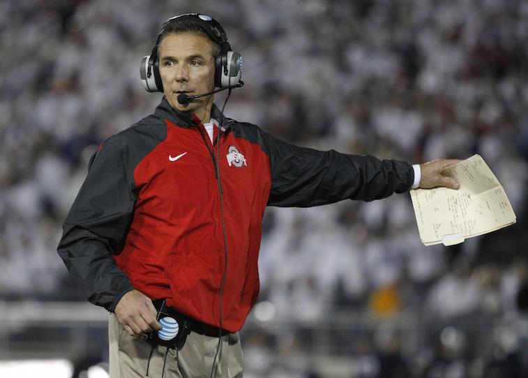 Urban Meyer coaches against Penn State