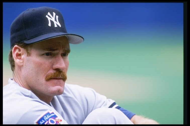 Wade Boggs sits before a game against the Blue Jays