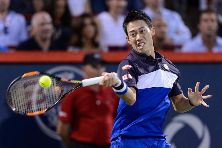 Kei Nishikori during the Rogers Cup