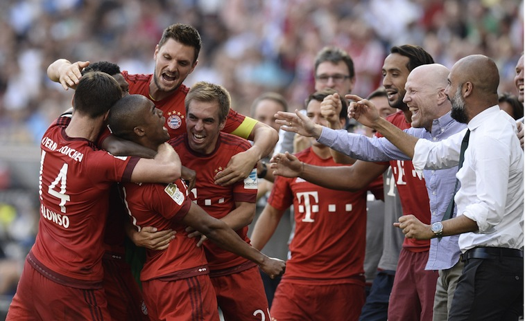 Bayern Munich celebrate scoring a goal