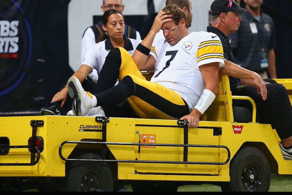 Ben Roethlisberger is carted off the field