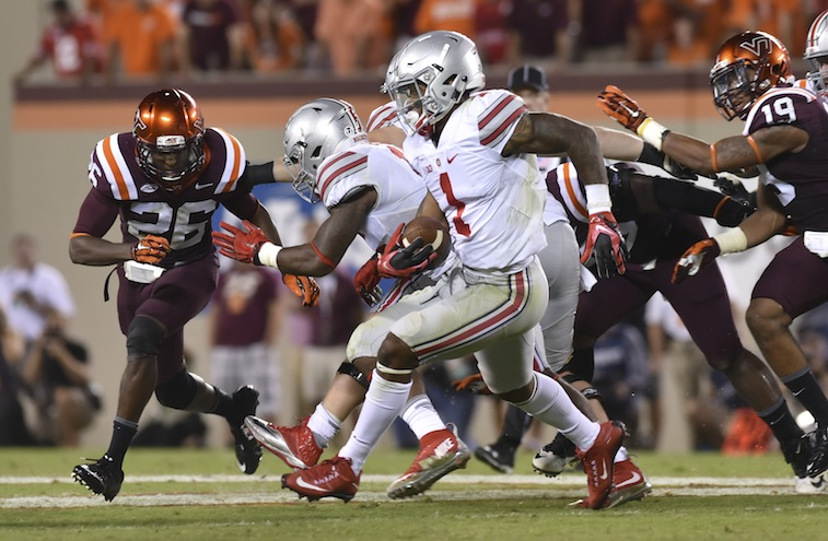 Braxton Miller makes a move against Virginia Tech