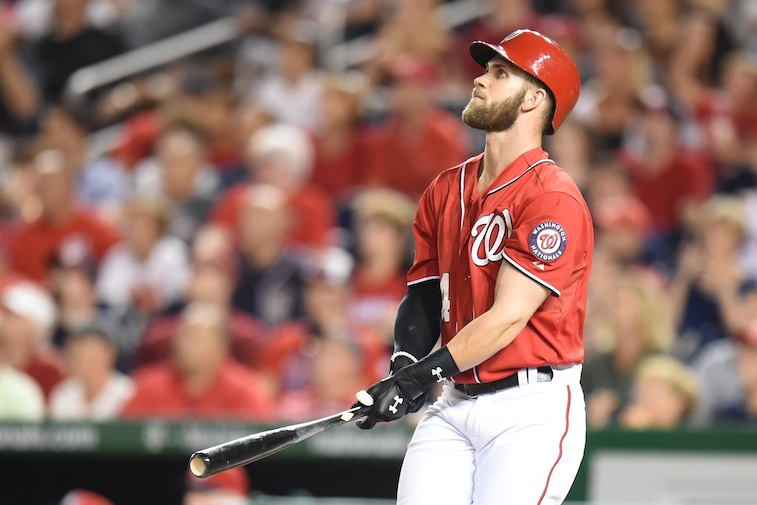 Bryce Harper hits a home run against the Nationals