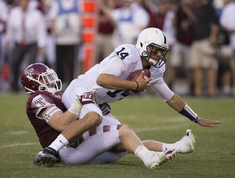 Christian Hackenberg gets sacked against Temple