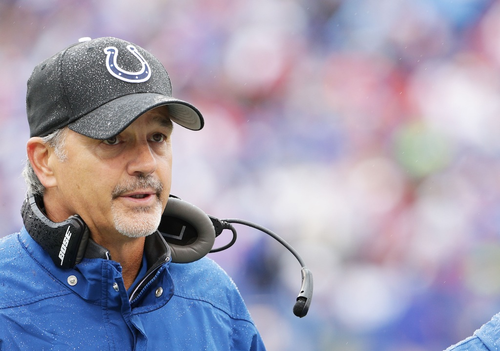 Chuck Pagano during a game against the Bills