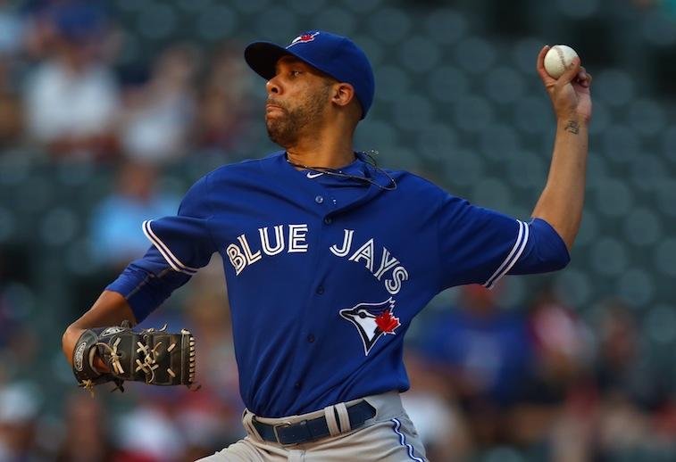 David Price on the mound