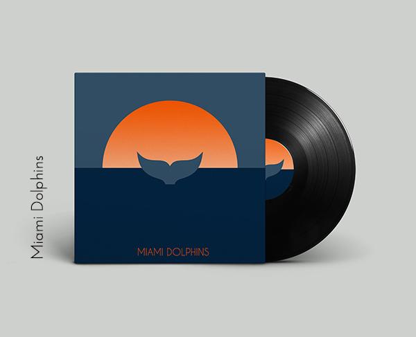 Miami Dolphins vinyl cover