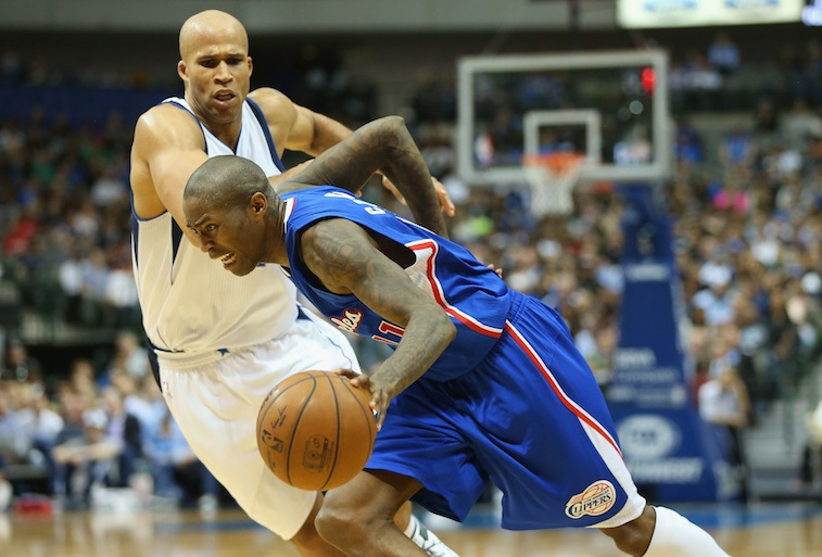 Jamal Crawford drives to the basket