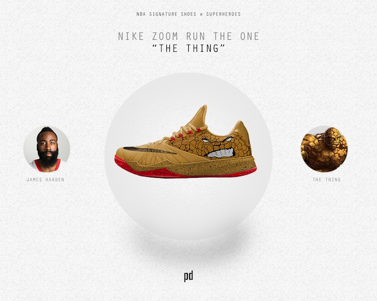 James Harden signature shoe as The Thing