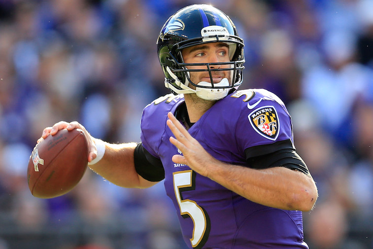 Joe Flacco had a rough first few playoff games