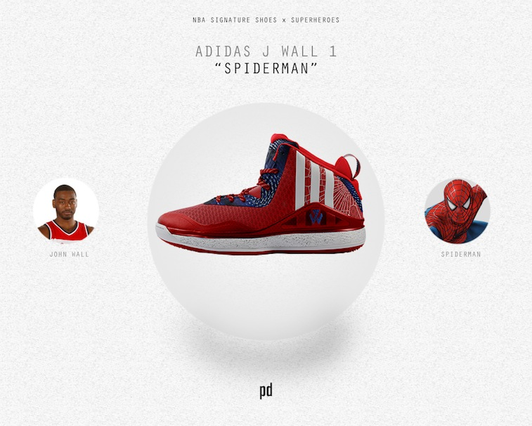 John Wall signature shoe as Spider-Man