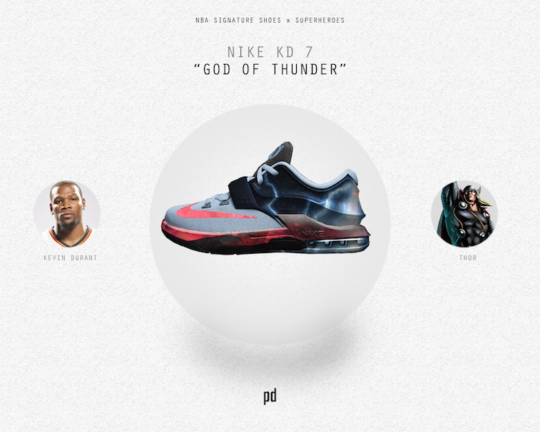 Kevin Durant signature shoe as Thor