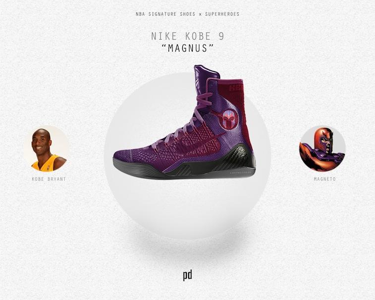 Kobe Bryant signature shoe as Magneto
