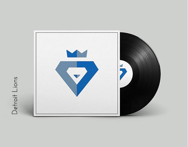 Detroit Lions vinyl cover