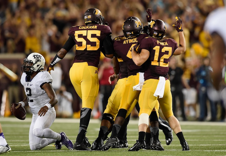Minnesota celebrates sack of Trevone Boykin
