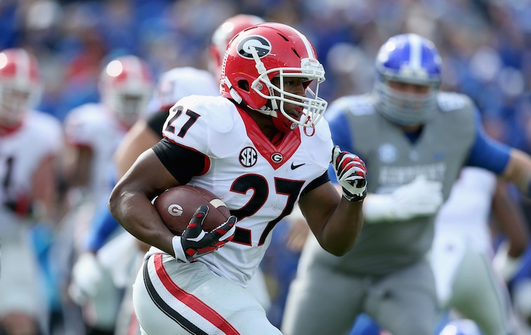 Nick Chubb runs against Kentucky
