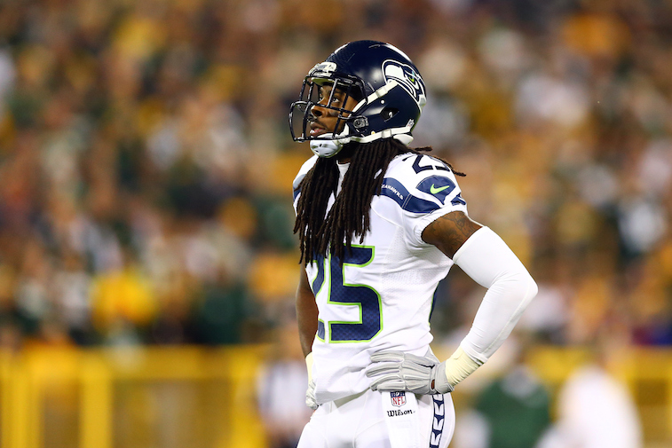 The Seattle Seahawks' Richard Sherman considers his chance of making it to Super Bowl 51