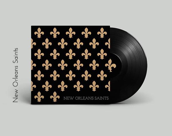 New Orleans Saints vinyl cover