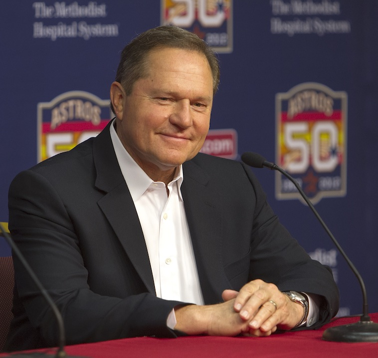Scott Boras speaks with the media during a press conference