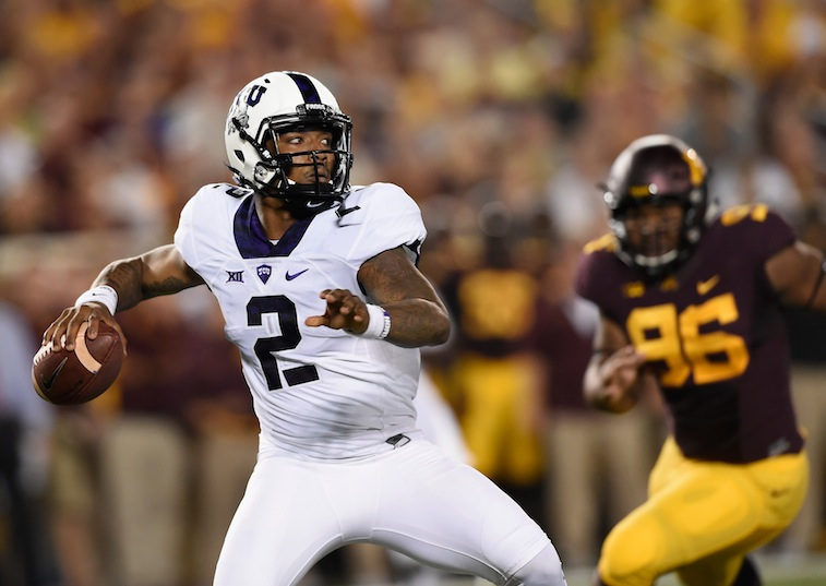 Trevone Boykin looks to pass