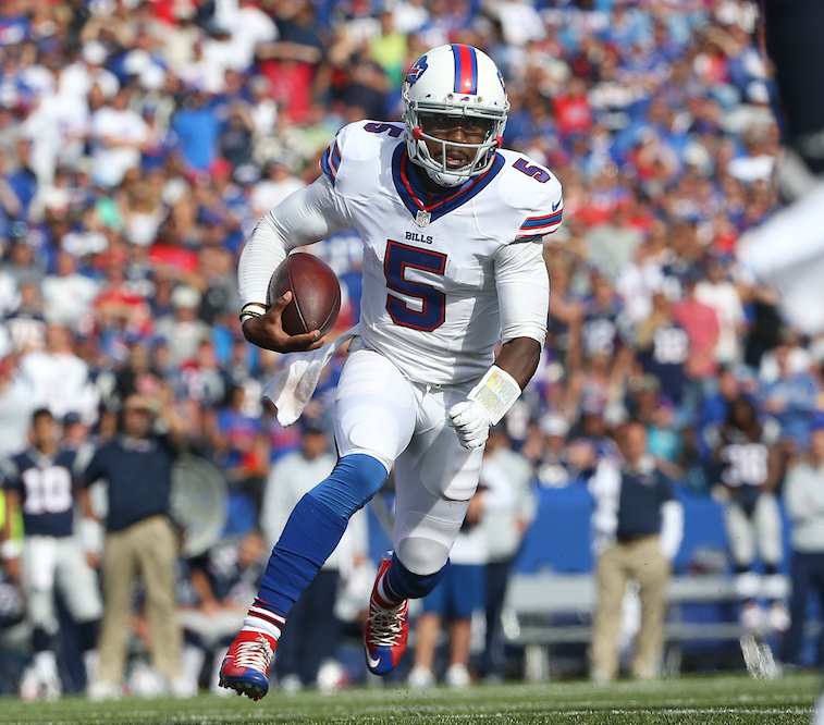 Tyrod Taylor may not be back in Buffalo | Tom Szczerbowski/Getty Images