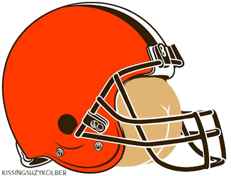 Cleveland Browns logo as a butt