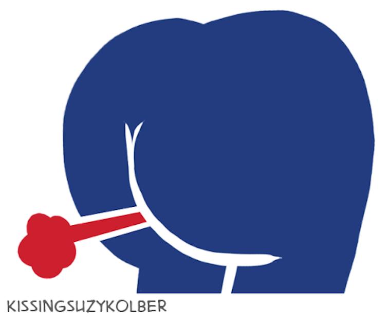 Buffalo Bills logo as a butt