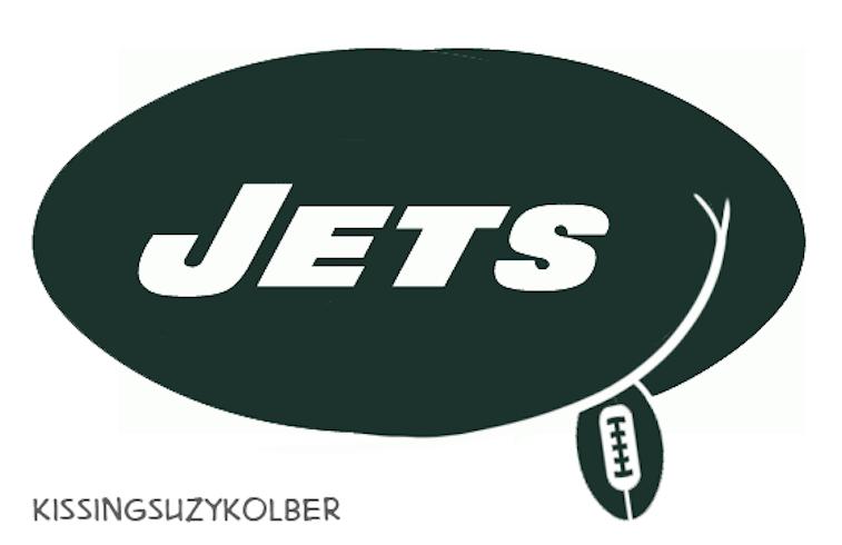 New York Jets logo as a butt