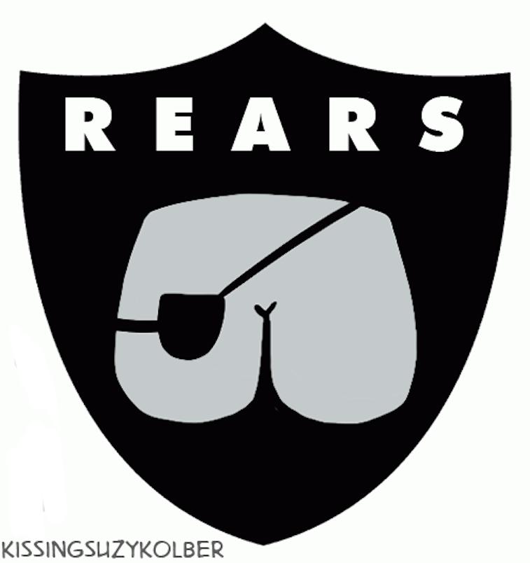 Oakland Raiders logo as a butt