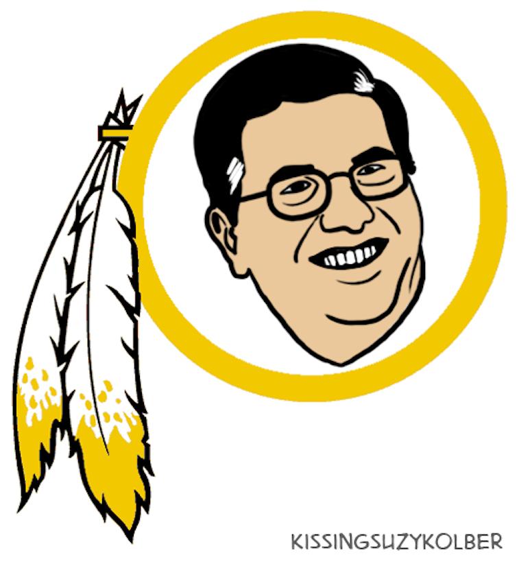 Washington Redskins logo as a butt