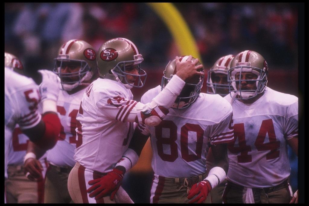 San Francisco 49ers celebrate after a touchdown