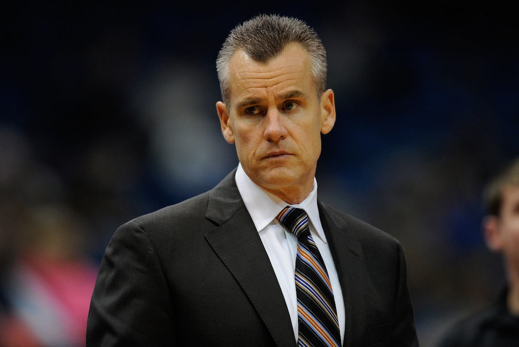 Billy Donovan coaches during a Thunder's preseason game