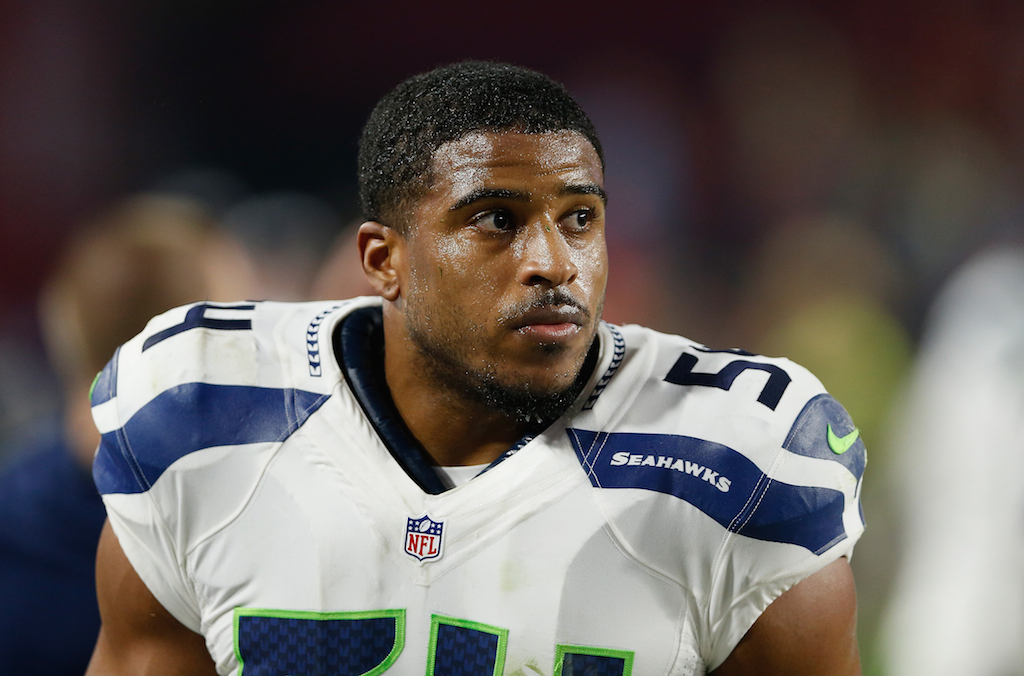 Bobby Wagner looks on during a game against the Cardinals